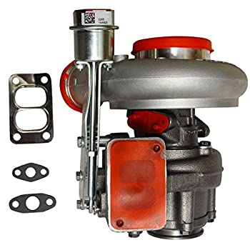 BLACKHORSE-RACING Diesel Turbocharger HX35 HX35W Turbo Charger with Internal Wastegate Turbine Compatible with 1999 2000 2001 2002 Dodge Ram 2500 3500 5.9L Truck 6BT Cummins Engine  3592766