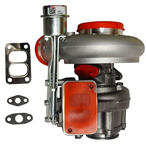 BLACKHORSE-RACING Diesel Turbocharger HX35 HX35W Turbo Charger with Internal Wastegate Turbine Compatible with 1999 2000 2001 2002 Dodge Ram 2500 3500 5.9L Truck 6BT Cummins Engine (3592766)