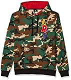 LRG Men's Long Sleeve Pullover Hooded Sweatshirt, Camo, X-Large