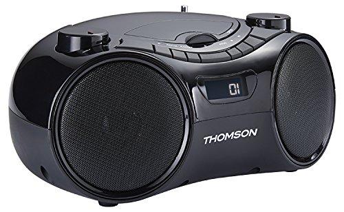 Thomson RCD210UBT - Radio portátil (USB, Bluetooth, CD, MP3) Negro