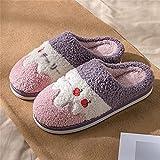 SKREOJF Zapatillas de algodón para mujer invierno lindo interior...