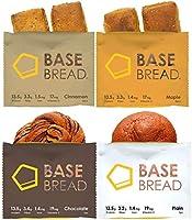 BASE BREAD ベースブレッド 4種 (プレーン4袋・チョコレート4袋・メープル4袋・シナモン4袋) 16袋セット 完全食 完全栄養食 食物繊維
