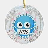 2020 Virus Christmas Tree Decoration 3' Ceramic Christmas Ornament Xmas Tree Decor Two-Sides Printed