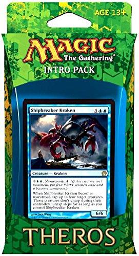 Magic The Gathering (MTG Theros Intro Pack - Manipulative Monstrosities Theme Deck (Includes 2 Booster Packs) Blue (Shipbreaker Kraken)