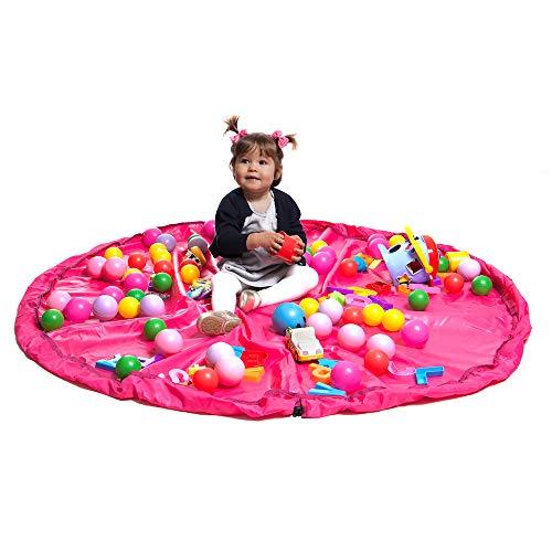 Saco Organizador de Brinquedos, Momis Petit, Rosa, Tamanho Único