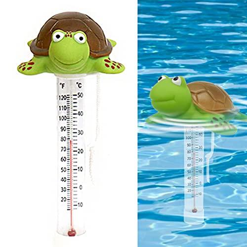 FILWO Schwimmende Pool Wasser Thermometer Swimming Pool Temperaturanzeige Cartoon Polar Pool Thermometer für Pool Spa Whirlpool Teich Rohr Bear-Form mit dem String für Pool Spa Whirlpool Teich