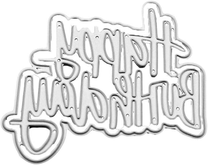 Happy Birthday Letters Cutting Dies mart Scrapbooking Ca DIY National uniform free shipping Stencils