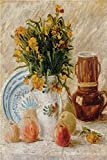 WIOIW Famoso Pintor Artista Van Gogh Obra Maestra Naturaleza Muerta Fruta Florero Pintura al óleo Abstracta Pintura Impresa Cartel Arte de la Pared Sala de Estar Dormitorio Oficina Decoración para