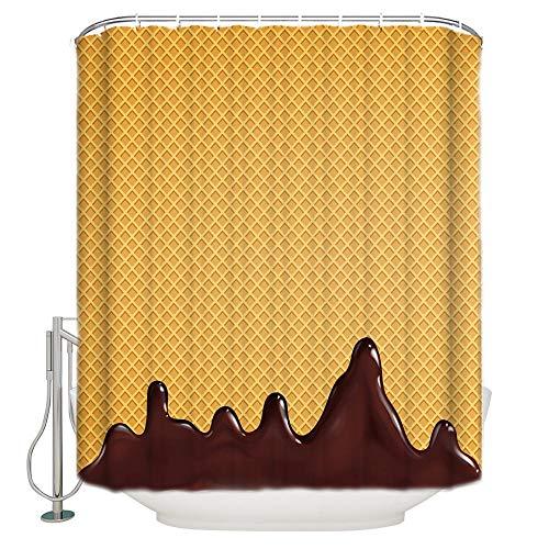 cortinas comedor chocolate