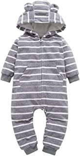 Unisex Newborn Baby Girl Boy Layette Set Rompers Onesie Cartoon Pajamas Warm Fall Winter Hooded Coat Rompers Bodysuit 0-24M
