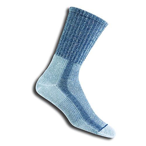 thorlos Herren Men's Lite Hiking Moderate Padded Crew Socks Wandersocken, Denim, Large*