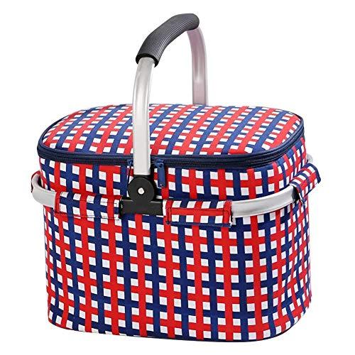 Picnic Backpack - Picknickrucksäcke in Bluesquare, Größe 38*25*26CM