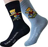 United Labels Kinder Socken Bart Simpson 2er Pack Hellblau Marine 27-30