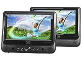 Trevi TW 7005 Lettore DVD Portatile per Auto, Due Display da 9 Pollici, USB, SD, Presa Acc...