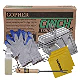 Cinch Gopher Trap with Tunnel Marking Flag (Medium) Heavy-Duty, Reusable Rodent Trapping System | Lawn, Garden, and Outdoor Use | W/Tools (Pack of 3)
