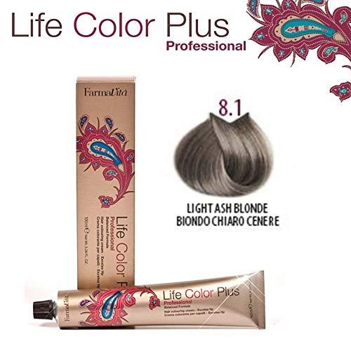 FarmaVita Life Color Plus Haarfarbe 100ml 8.1 Hellblond Asch