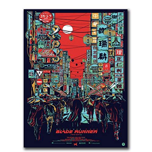 dubdubd Poster und Drucke Blade Runner 2049 Harrison Ford Heiße Geschenkkunst Poster Leinwand Malerei Wohnkultur-50x70cm Kein Rahmen
