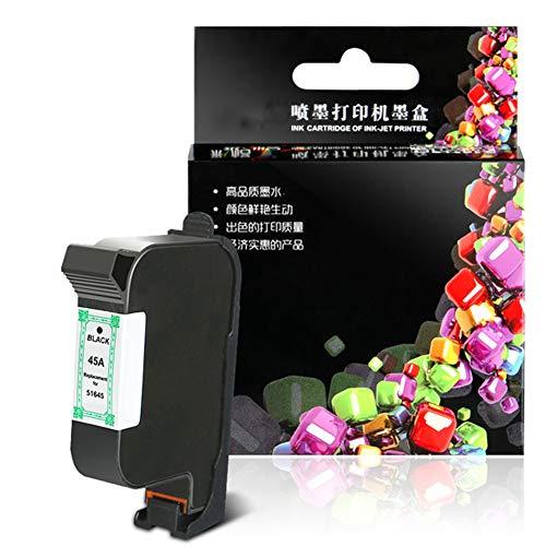 VNZQ Cartucho de tinta 51645, DESKJET 710C 720C 815C 820CXI 880C 890C 895CXI 930C 950C 955C 960C 970CXI 990CXI 1000CXI 1120C 1125C 1180C 1220C C 1280 Cartucho de tinta compatible con la impresora HP