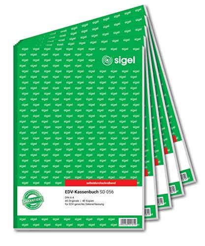 Sigel formularios–Caja registradora (libros 5 unidades