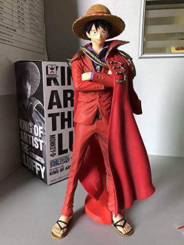 DHL Een Stuk Koning Mantel Luffy Rood Strohoed Anime Model Gift 25CM
