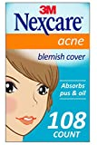 Nexcare Acne Cover, Invisible, Hydrocolloid Technology, Non-Drying, 108 count