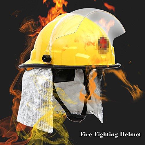 KKmoon Antincendio Casco di Sicurezza Caschi da Fuoco di Scossa Elettrica Prevenzione Ignifugo con Amitto Protegge