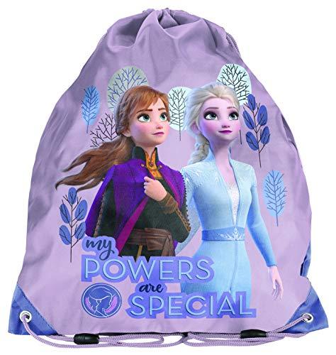 Ragusa-Trade Disney Frozen Elsa Anna Olaf Gym Bag Sports Bag Shoe Bag 38 x 34 cm, girls, Rose (DOG)