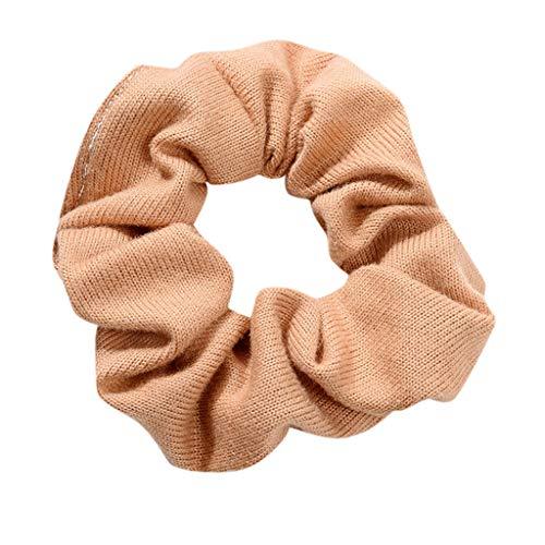 MIRRAY Frauen Elastisches Haar Seil Ring Krawatte Scrunchie Pferdeschwanz Inhaber Haarband Stirnband Khaki