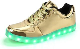 a8a47cc555 Padgene Damen Herren LED leuchtet Turnschuhe High Top Blinken Trainer USB  Ladekabel Spitze bis Paare Schuhe