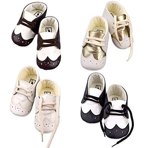 Baby Jungen Schnürsenkel Lauflernschuhe rutschfest Schuhe Anzugsschuhe Festlich Erstlingsschuhe Taufschuhe Hochzeit (17, braun)