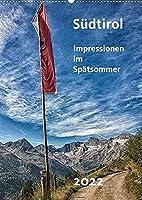 Suedtirol - Impressionen im Spaetsommer (Wandkalender 2022 DIN A2 hoch): Wandern zwischen Oetztaler Alpen und Texelgruppe (Monatskalender, 14 Seiten )