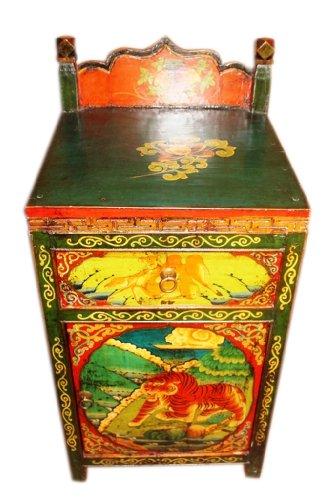Luxury-Park Chine pour Petite Commode à tiroirs en 1940 Multicolore Aspect typique