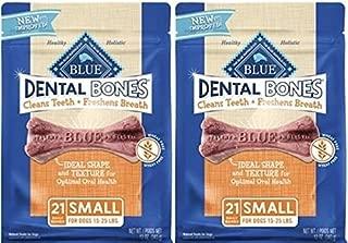 Blue Buffalo Blue Bones Dental Treats, Small (Pack of 2, 12-oz. bags)