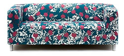 Artefly Klippan Sofabezug Design BETA mit Kissen Bezug passend für Ikea Klippan Zweisitzer