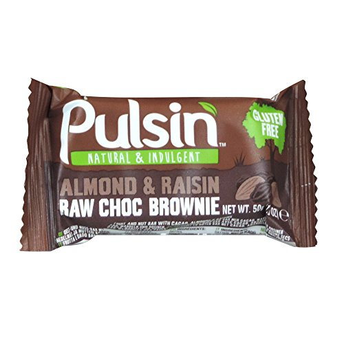 Pulsin - Almond & Raisin Raw Choc Brownie - 50g