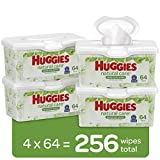 HUGGIES Natural Care Baby Wipes, 64 Wipes x Pack of 4 tubs (total...