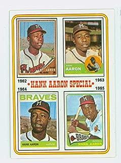 1974 Topps Baseball 4 Hank Aaron 1962-1965 Near-Mint