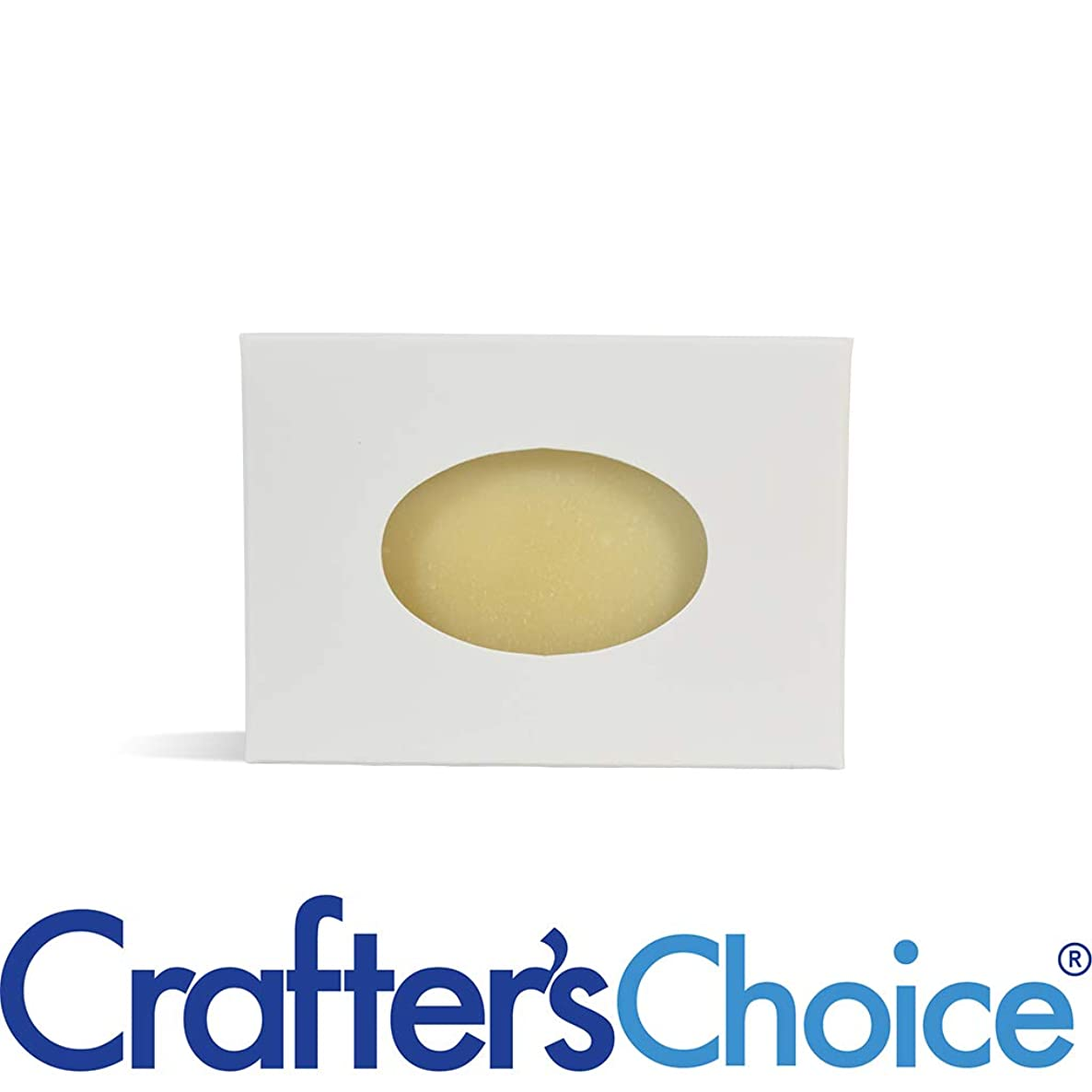Crafter's Choice White Oval Window Soap Box - Homemade Soap Packaging - Soap Making Supplies - 100% Recycled Materials - Made in USA! 50 Pack