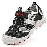 Sandalias para niño Sandalias Deportivas Zapatillas de Trekking Sandalias de Senderismo Niña Sandalias de Vestir(J Negro,35 EU)