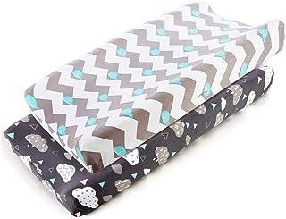 Funnyfeng Housse de matelas /à langer pour matelas /à langer housse de matelas /à langer en polyester pour table /à langer Taille 32 x 16 x 4 cm Feuille verte.