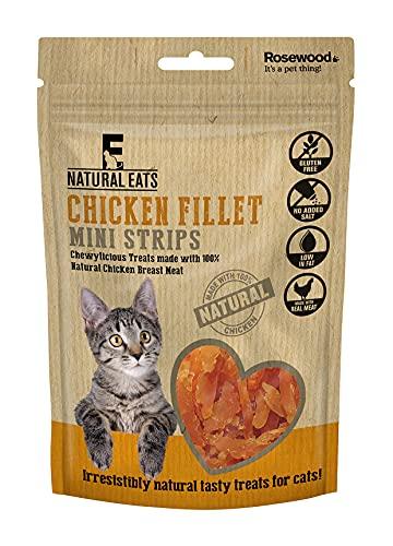 Rosewood Natural Eats Kipfilet Mini Strips voor katten, 50 gram, Pack van 18