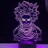 YZZR 3D Lámpara LED luz de la Noche Anime Figura, My Hero Academia Shinsou Hitoshi Acción Modelo Estatua Juguetes Muñeca Animaciones Personaje Decoración para Niños Mejor Regalo