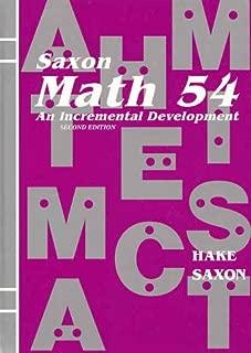 Saxon Math 54: An Incremental Development