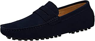 JIONS Mens Driving Penny Loafers Suede Moccasins Slip On Casual Dress Boat Shoes …