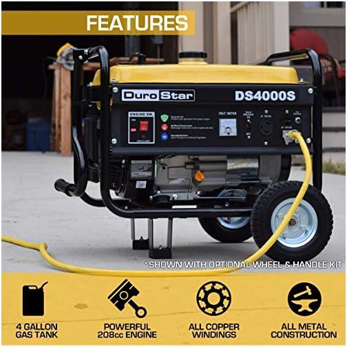 Durostar DS4000S Portable Generator, Yellow/Black 4