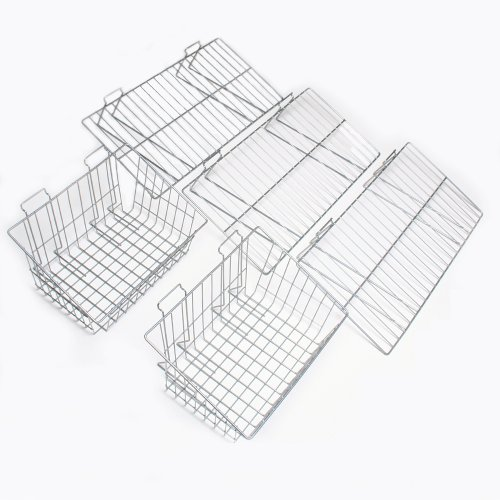 Proslat 11003 Garage Organizer Value Pack with 3 Shelves and 2 Steel Baskets, Designed for Proslat PVC Slatwall