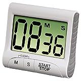 Xavax Digitaler Küchentimer mit Timer- und Stopp-Uhr-Funktion (Befestigung via Magnet, Clip, Hänger oder Aufsteller) batteriebetrieben, weiß