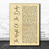 CeaGea George Strait The Weight of The Badge Rustic Script Song Lyric Music Wall Art Quote Print Poster Wall Art Home Decor Gifts for Lovers Painting