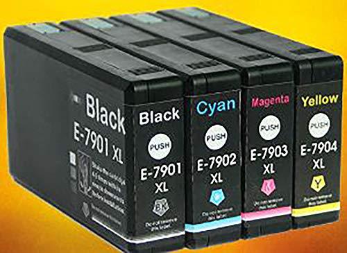 Cartuccia Cartucce Compatibili Con Epson WF4630 4640 5110 5190 5620 5690 ARET7902, Colore: Ciano