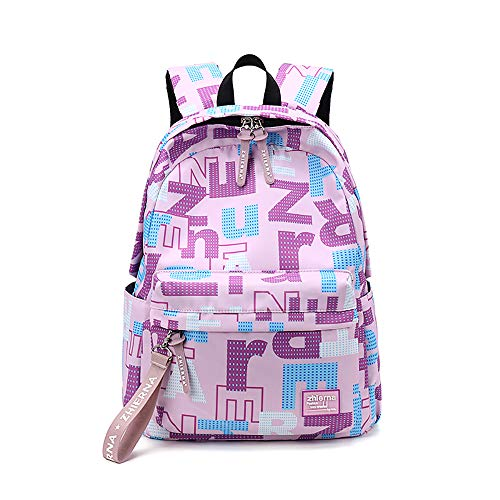 Casual Daypack Lightweight School Bag Laptop Backpack Rucksack Water-Resistant Travel Backpack fits 15 inch MacBook Laptop for Boys Girls Men and Women GWBI-purple